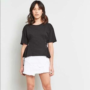 Urban Outfitters light before dark side corset tee